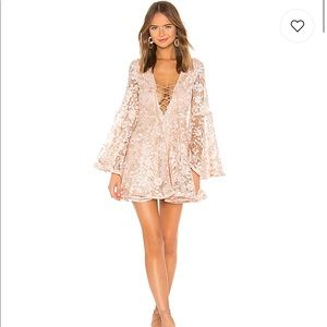 Michael Costello - Mini Dress in Light Pink Floral